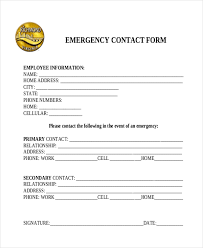employee list samples 28 employee emergency contact list