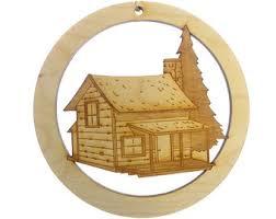 cabin ornament etsy