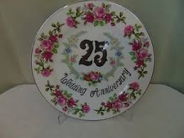 25th wedding anniversary plates 25th wedding anniversary plate with hanger ardco quality