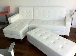modern leather sleeper sofa amazing white leather sleeper sofa in wonderful collection best