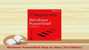pdf windows powershell step by step 3rd edition read online