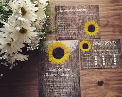 Sunflower Wedding Invitations Rustic Sunflower Wedding Invitation Set Printable By Vginvites