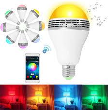 led light bulb speaker wireless bluetooth e27 led light bulb speaker stereo surround music