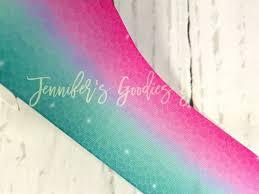 mermaid ribbon 3 mermaid ribbon ombre ribbon aqua and pink fish scales