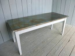 Zinc Top Bar Table Dining Table Metal Top Dining Table Australia Nz Round Reclaimed