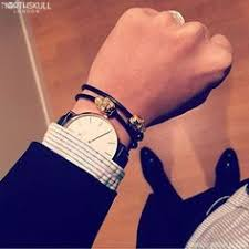 black leather double wrap bracelet images Instagram pic picture tumblr details black and white flower jpg