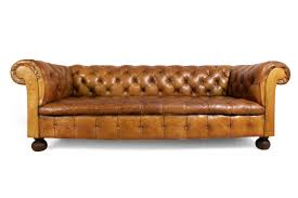 Chesterfield Sofa For Sale by Vintage Tan Leather Buttoned Chesterfield Sofa 1960s For Sale At
