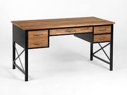 bureau bois bureau en métal et bois avec 4 tiroirs longueur 146cm clayton