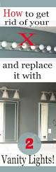 how to replace a hollywood light with 2 vanity lights vanities
