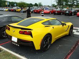 yellow corvette rick corvette conti archive 60th event yellow stingray