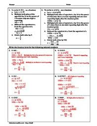 converting repeating decimals to fractions worksheet by maya khalil