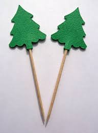 Plastic Christmas Cake Decorations Uk by 6 X Plastic Christmas Tree Cake Decorations 75mm As Used By