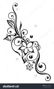 download tribal tattoo with flowers danielhuscroft com drawing