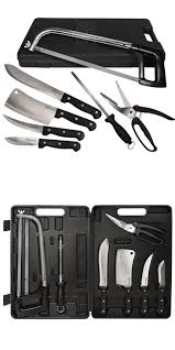 knife sets 42578 10 piece game deer butchering blades kit set