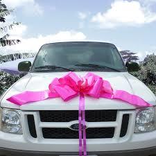 car bow ribbon 23 pink car bow health personal care