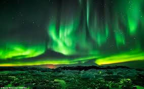 northern lights iceland november photographer captures the northern lights milky way and an erupting