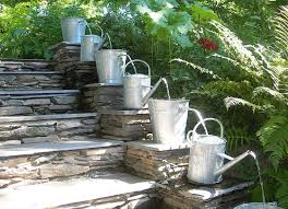 brilliant water fountain garden better homes and gardens river