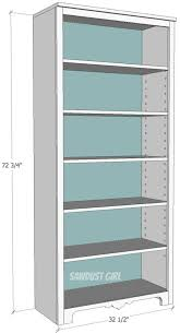 tall bookcase with adjustable shelves sawdust