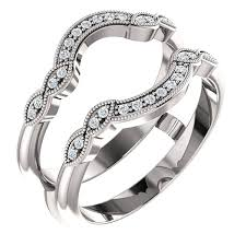 engagement ring enhancers 14kt white gold with ring guard engagement wedding