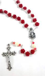 white rosary white bead rosary
