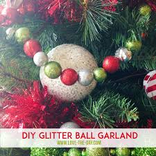 Easy Diy Christmas Tree Garland Christmas Decorations Whimsical Glittered Ball Garlands