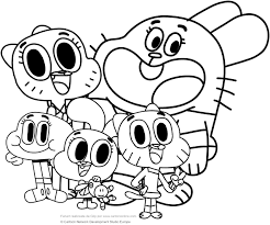 watterson family the amazing world of gumball coloring pages