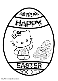 hello kitty easter coloring pages hello kitty easter bunny