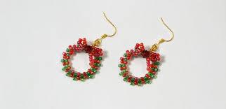 images of christmas earrings easy christmas wreath ideas on how to make beaded christmas earrings