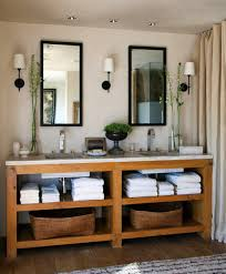 bathroom traditional wooden made furniture and simple fixtures full size of bathroom modern rustic ideas visualized with custom console vanity storage and modest shower