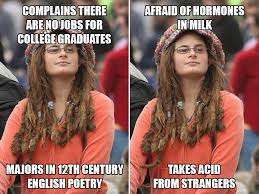 Liberal Girl Meme - liberal college girl logic