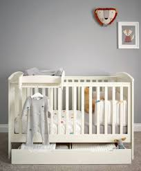 Cot Changing Table Classic Cot Package With Storage And Changer Top Ivory Pine