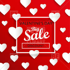 big valentines day valentines day big sale abstract background with hearts