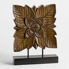 thai tree blosson wood carving jpg