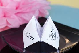 diy déco de table menu origami pliage