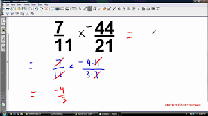 math 9 multiplying and dividing rational numbers youtube