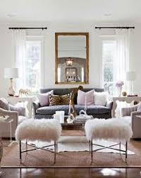 grey living room love the fluffy matching stools large mirror