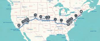 United States Road Trip Map by Road Trip Across America U2013 Part 1 The Plan Ilovehatephotography