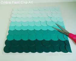 craftaholics anonymous paint chip art with ombre