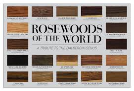 rosewoods of the world poster the wood database