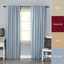 Hotel Room Darkening Curtains Home Hotel Stripe 84 Inch Insulated Blackout Curtains 52