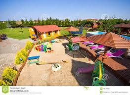 luxury backyard stock photo image 43168537
