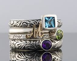 stacked birthstone rings customize it rings by olive bungalow stackable gemstone