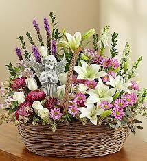 basket arrangements funeral basket arrangements fn ba009 everest florist and gifts