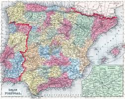 A Map Of Spain by Large Detailed Old Political And Administrative Map Of Spain And