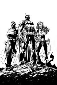jim lee u0027s icons cover u2014 pencils and inks dc
