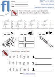 beginning consonant blend worksheets two letter blend phonics