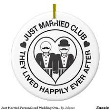 just married personalized wedding flask lgbt personalized