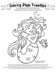 dulemba coloring tuesday mermaid