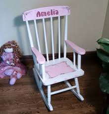 White Childs Rocking Chair Personalized Kids Rocking Chairs Concept Home U0026 Interior Design