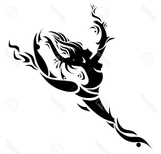 top 10 abstract dancing vector stock tribal tattoo silhouette